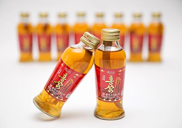 Nước Hồng Sâm Hàn Quốc Có Củ KGS 120ml x 10 chai