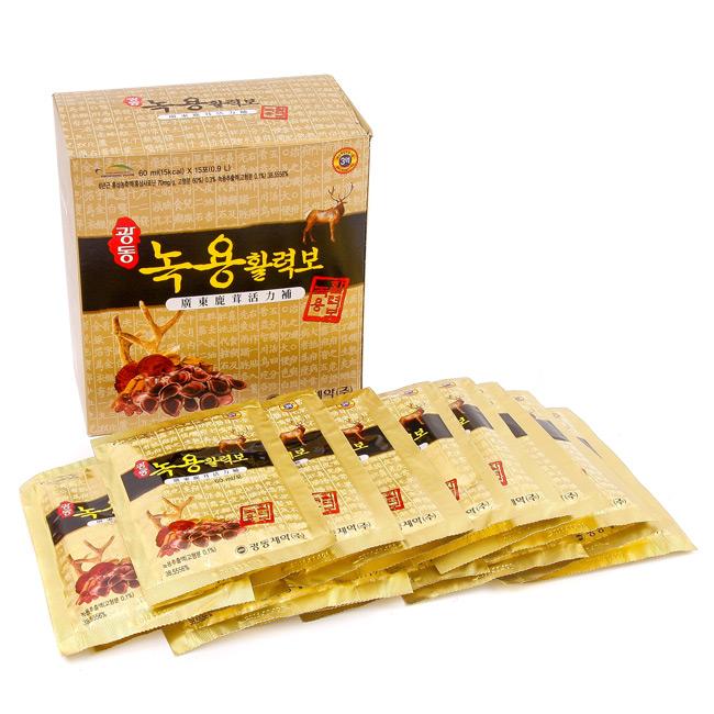 Nước Lộc Nhung Hồng Sâm Linh Chi Hàn Quốc 60ml x 30 Gói