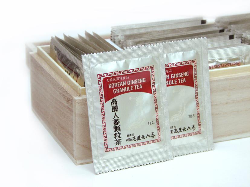 Trà Hồng Sâm Hàn Quốc Hộp Gỗ 3g x 50 Gói