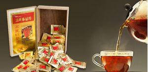 trà hồng sâm hàn quốc sử dụng như thế nào