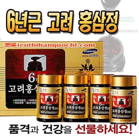 Cao Hồng Sâm 365 Hàn Quốc 240g x 4 lọ