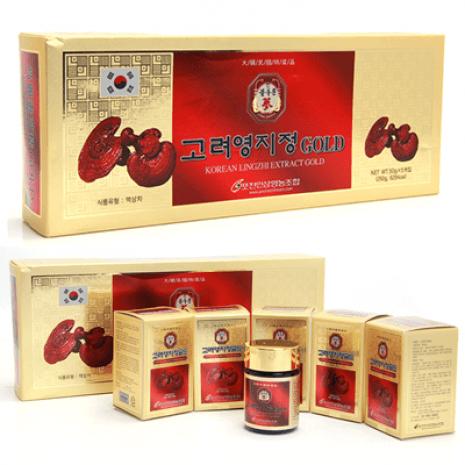 Cao Linh Chi Đỏ Hàn Quốc Gold 50g x 5 Lọ