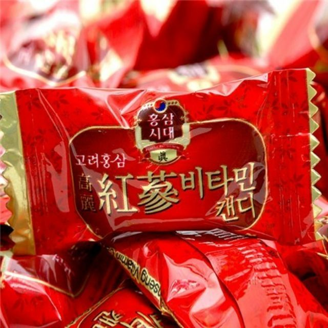 kẹo hồng sâm vitamin 800g hàn quốc