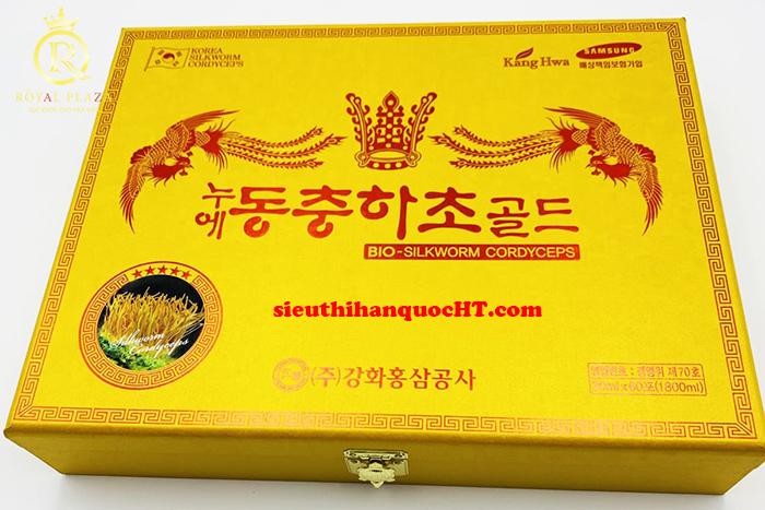 nước đông trùng hạ thảo hàn quốc hộp gỗ vàng 60 gói 30ml
