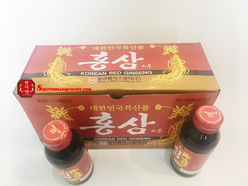 Nước hồng sâm Dong A hộp 10 chai 100ml
