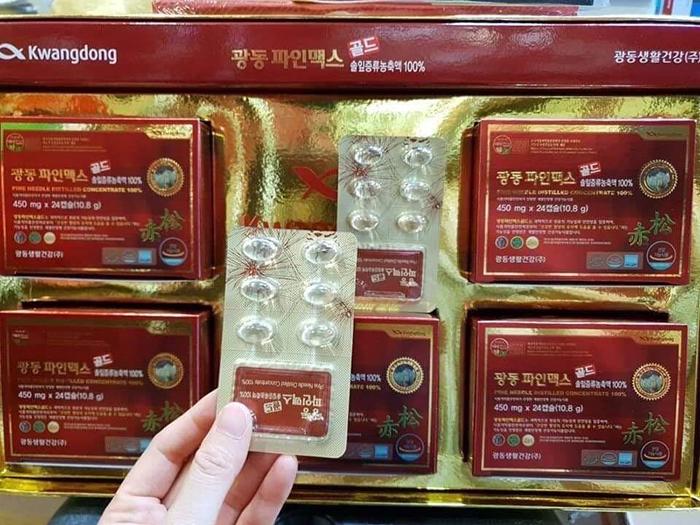 tinh dầu thông đỏ hàn quốc kwangdong 120 viên