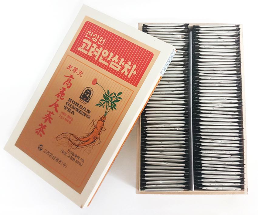 trà sâm hàn quốc hộp gỗ