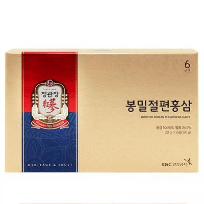Hồng Sâm Lát Tẩm Mật Ong 120g KGC Cao Cấp Chính Phủ Hàn Quốc