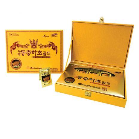 Nước Đông Trùng Hạ Thảo Hàn Quốc 30ml x 60 Gói Hộp Gỗ Vàng