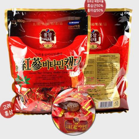 kẹo hồng sâm hàn quốc 800g vitamin