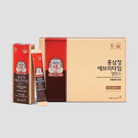 Tinh Chất Hồng Sâm Pha Sẵn Extract Everytime Balance 20 gói x 10ml KGC Cheong Kwan Jang