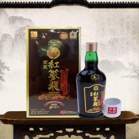 Nước Hồng Sâm Nhung Hươu Linh Chi KGS 750ml x 1 chai
