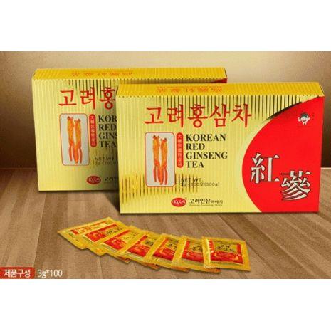 Trà Hồng Sâm Hàn Quốc KGS Hộp Lớn 3g x 100 Gói