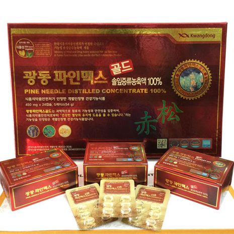 tinh dầu thông đỏ Hàn Quốc 120 viên Kwangdong
