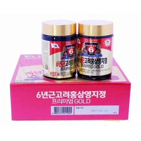 Cao Hồng Sâm Linh Chi 240g x 2 Lọ Teawoong Hàn Quốc